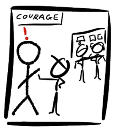 Scrum Values - Courage