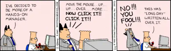 dilbert about micromanagement